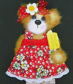 TWAG*DEBBIE* BABY GIRL TEAR BEAR PAPER PIECE PREMADE SCRAPBOOK PAGES CARD ALBUM