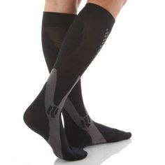 71eb917342e Men Women Leg Support Stretch Outdoor Sports Socks Knee High Compression  Socks Running Snowboard Long Socks Stockings. Shin SplintsWomen ...