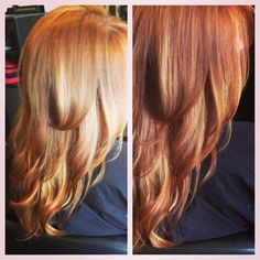 from caramel to copper ombre hair