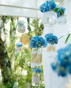 Blue Wedding, Floral Wedding, Wedding Flowers, Aquarium Wedding, Marriage Decoration, My Perfect Wedding, Paper Roll Crafts, Diy Wedding Decorations, Industrial Wedding