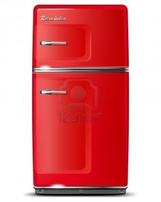 Red retro refrigerator -  oh yes baby....