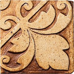 "Andalusian, Color: Burnt Umber, 4X4"" Decorative Tile"