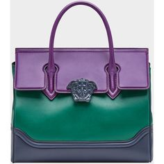 Palazzo Empire Large Bag ❤ liked on Polyvore featuring bags, handbags, purple handbags, top handle purse, purple purse, top handle handbags and purple bags