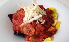 Pasta Schwarz-Rot-Gold von cookingsociety.at Tandoori Chicken, Pasta, Ethnic Recipes, Stuffed Pasta, Football Snacks, New Recipes, Fresh, Noodles, Pasta Recipes