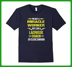 Mens Not a Miracle Worker but a Lacrosse Coach Funny Shirt Large Navy - Sports shirts (*Amazon Partner-Link)