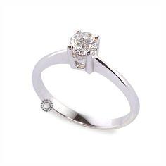 Μονόπετρο δαχτυλίδι με διαμάντι μπριγιάν από λευκόχρυσο Κ18 | Μονόπετρα δαχτυλίδια στο κοσμηματοπωλείο ΤΣΑΛΔΑΡΗΣ στο Χαλάνδρι #μονόπετρο #δαχτυλίδι #διαμάντια #λευκόχρυσο