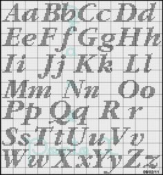 Letter patterns for diamond painting Cross Stitch Letter Patterns, Cross Stitch Letters, Cross Stitch Designs, Cross Stitching, Cross Stitch Embroidery, Plastic Canvas Letters, Embroidery Alphabet, Crochet Alphabet, Crochet Letters