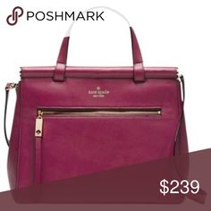 👛BLACK FRIDAY 20% OFF TODAY ONLY Kate Spade👛 New with tags!! Bought last year but changed my mind and didn't return in time. Lovely burgundy/purple color. kate spade Bags