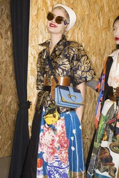 A detailed look backstage at Prada Fall 2016 in Milan