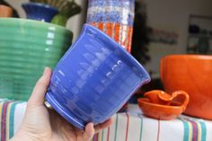 Bauer Pottery Beating Bowl Cobalt Blue Ring Ware California Vintage