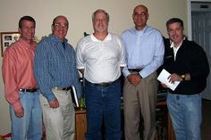 Members of Talent Guild International include from left to right Larry Julien, Bob Bailey, Bill Nevitt, Kevin Readdean and guest Peter K. O'Connell in Corinth, NY, October, 2010.