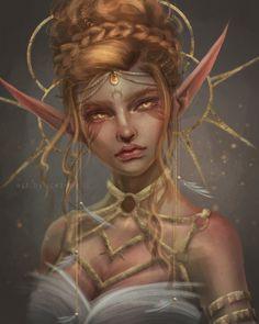 Beautiful Fantasy Art, Dark Fantasy Art, Fantasy Girl, Fantasy Portraits, Character Portraits, Elf Characters, Fantasy Characters, Fantasy Creatures, Mythical Creatures