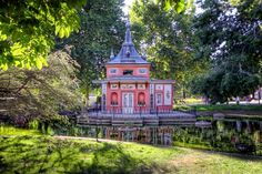cabana del pescador in a park in madrid, spain