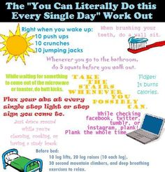 Too lazy to work out? Join the club.xD Are you lazy? Me too! So for all the lazy people out there this is a perfect workout routine for you. All you need to do is incorporate these exercises in you…
