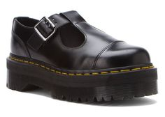 Dr. Martens Women's Bethan T-Bar Black Polished Smooth Loafer UK 8 (US Women's 10) M ** See this great product.