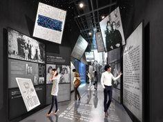 전시투시도-김환기미술관 : 네이버 블로그 Museum Exhibition Design, Exhibition Display, Exhibition Space, Design Museum, Display Design, Booth Design, Museum Plan, Museum Displays, Scenic Design