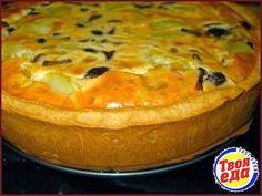 Пирог с картошкой и грибами, подавать лучше всего холодным, тогда он будет хорошо нарезаться и вкус совершенно другой.
