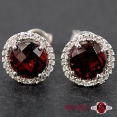 Enhance your style by wearing this gorgeous ruby earrings