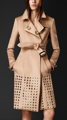 Embellished Cashmere Trench Coat | Burberry