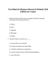 Interpersonal relationships professional communication skills for link download test bank for business research methods 12th edition by cooper fandeluxe Image collections