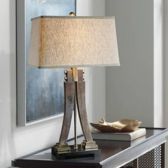 Uttermost Yerevan Distressed Wood Sculptural Table Lamp   #9W444 | Lamps  Plus