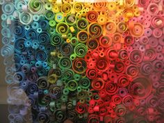 Color therapy - a huge panel of twisted colored paper