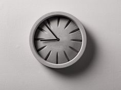 PO Concrete Clock by Plywood Office