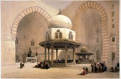 Mosque of Sultan Hassan, Cairo by David Roberts
