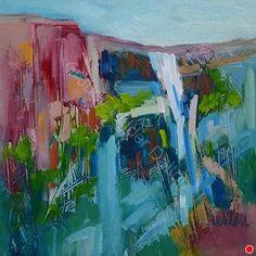 Falls by Judy Wilder Dalton Oil ~ 8 x 8