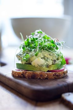 Green Goddess Egg Salad with Avocado- make into a sandwich, or on bruschetta or…