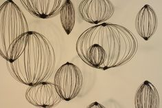 Emily Payne's wire sculptures