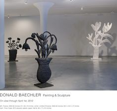 A Donald Baechler survey at the Fisher Landau Center for Art . Pottery Sculpture, Sculpture Art, Contemporary Ceramics, Contemporary Art, Flora, High Art, Land Art, Art Object, Installation Art