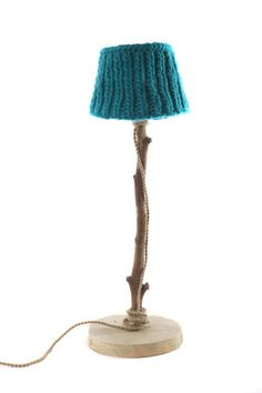 Dutch dilight lamp. Knitwear Azure ocean