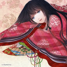 Lady in Junihitoe by Hachiretsu.deviantart.com on @deviantART