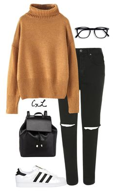 """Untitled #113"" by clynnstyle on Polyvore featuring Topshop, Barneys New York and adidas Originals"