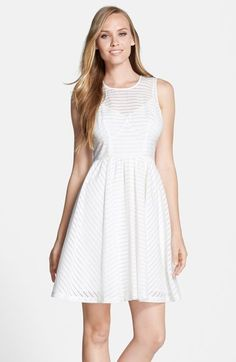 Plenty by Tracy Reese 'Alana' Shadow Stripe Fit & Flare Dress available at #Nordstrom