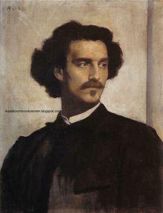 Anselm Feuerbach (German 1829–1880) [Classicism, Neoclassicism] Self-portrait, 1873.