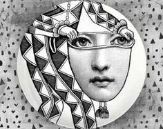 my angel Cavalieri melamine plate by TheMadPlatters on Etsy
