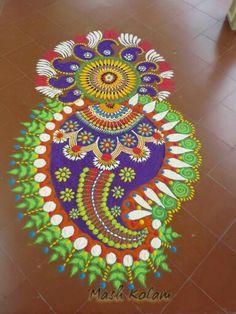 Mash kolam Welcome Home Decorations, Diwali Decorations, Festival Decorations, Rangoli Patterns, Rangoli Ideas, Beautiful Rangoli Designs, Kolam Designs, Zentangle, Creative India