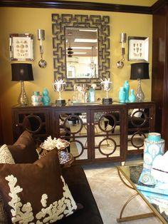 transitional mirrored furniture, transitional mirrored credenza, transitional mirrored buffet, mirrored furniture