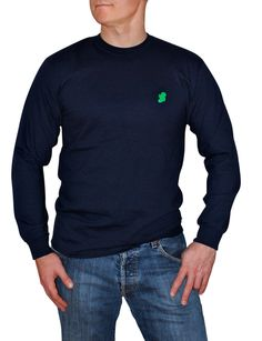 The Navy Long Irish T-Shirt by Ireland Shirt...its really cool to show off your Irish and still look ready to roll.  By Ireland Shirt