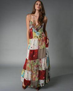 New Patchwork Dress Boho Long Skirts 22 Ideas Bohemian Mode, Bohemian Style, Hippie Chic, The Dress, Dress Skirt, Maxi Dresses, Look Boho Chic, Bohemian Schick, Différents Styles