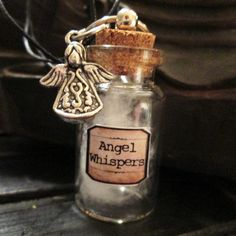 >>>Pandora Jewelry OFF! >>>Visit>> Angel Whispers Apothecary Bottle Necklace More Fashion trends Fashion designers Casual Outfits Street Styles Magic Bottles, Mini Glass Bottles, Glass Vials, Small Bottles, Bottles And Jars, Perfume Bottles, Bottle Jewelry, Bottle Charms, Bottle Necklace
