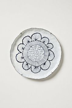 Snowdown Canape Plate  #anthropologie #Anthropologie #PinToWin