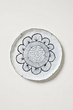 Snowdown Canape Plate #anthropologie