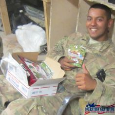 Dear Operation Gratitude: I am a platoon leader in a cavalry troop deployed to Afghanistan. Words can't describe how great for morale it was to have all our soldiers receive your care packages. In fact, Operation Gratitude supplied several of these soldiers with their first care package from the States. We all enjoyed the mix of treats, hygiene items, and especially the letters from your volunteers. Please accept the pictures attached as a thank you for all that your organization does. 1LT…