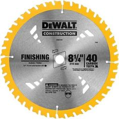 Dewalt 8 1 4 In 40t Carbide Thin Kerf Circular Saw Blade Dw3184 The Home Depot Circular Saw Blades Saw Blade Dewalt