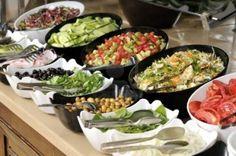 Wedding food menu buffet salad bar Ideas for 2019 Salad Buffet, Dessert Buffet, Salad Bar, Food Buffet, Bar Food, Food Salad, Food Bars, Dessert Tables, Wedding Buffet Food