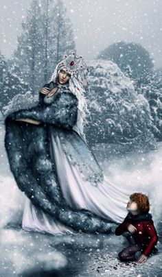 Very much like Beira who makes an appearance in Priestess Dreaming.   The Snow Queen by RomanticFae.deviantart.com on @deviantART