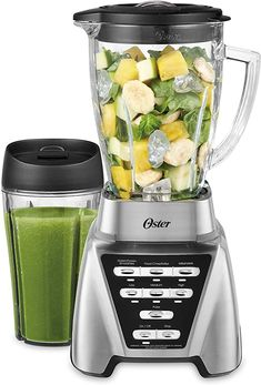 Oster Pro 1200 Blender with Glass Jar plus Smoothie Cup & Food Processor Attachment Best Smoothie Blender, Smoothie Mixer, Oster Blender, Smoothie Cup, Good Smoothies, Smoothie Recipes, Green Smoothies, Juice Blender, Detox Smoothies